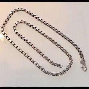 Sterling Tiffany & Co. Large box chain necklace